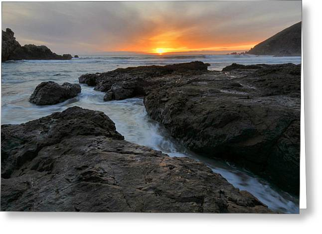 Pfeiffer Beach Greeting Cards - Big Sur Sunset Greeting Card by Stephen  Vecchiotti
