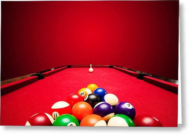Billards Greeting Cards - Billards pool game Greeting Card by Michal Bednarek