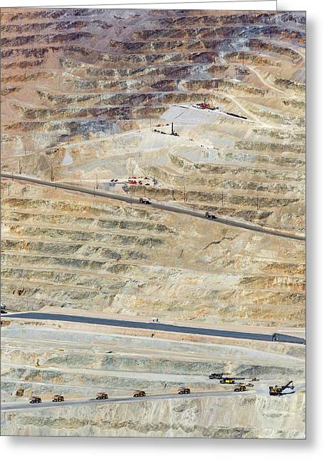 Bingham Canyon Copper Mine Greeting Card by Jim West