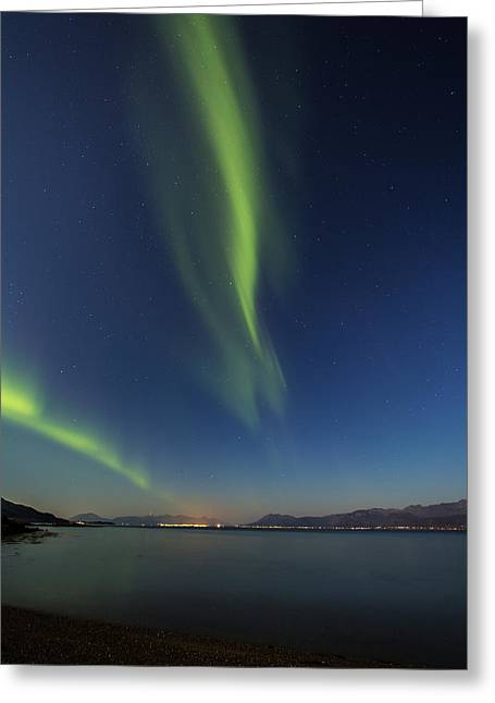 Astrophoto Greeting Cards - Blue hour Greeting Card by Frank Olsen