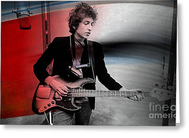Bob Dylan Greeting Cards - Bob Dylan Greeting Card by Marvin Blaine