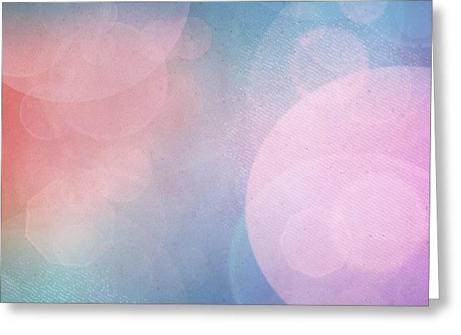 Mythja Digital Art Greeting Cards - Bokeh background Greeting Card by Mythja  Photography