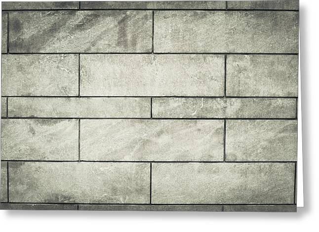 Backdrop Photographs Greeting Cards - Brick wall  Greeting Card by Tom Gowanlock