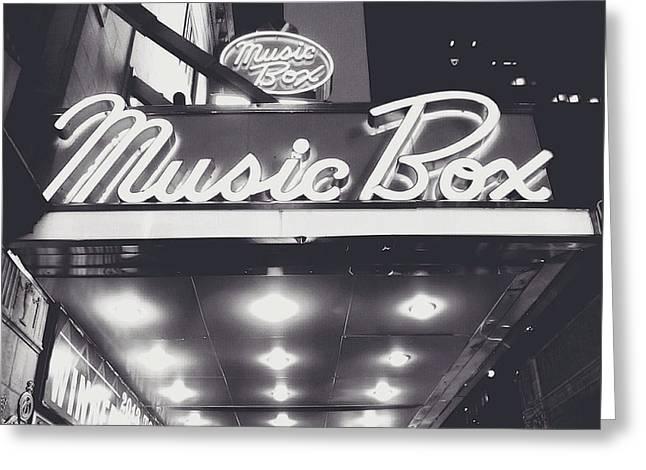 Music Box Greeting Cards - Broadway Greeting Card by Natasha Marco