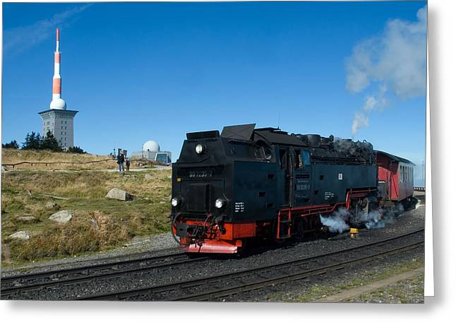 Brockenbahn Greeting Card by Steffen Gierok