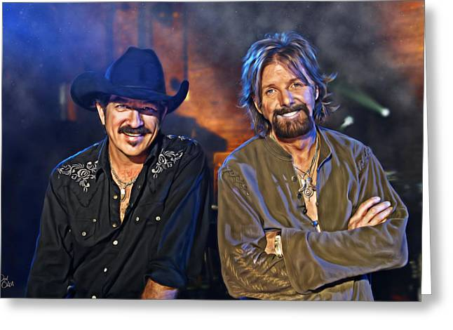 Brentwood Tennessee Greeting Cards - Brooks and Dunn Greeting Card by Don Olea