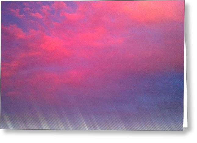 Bryant Denny Greeting Cards - Bryant-Denny Painted Sky Greeting Card by Kenny Glover