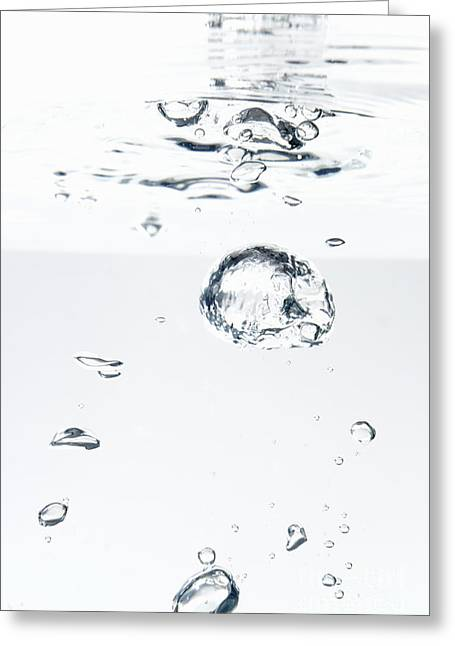 Consumerproduct Greeting Cards - Bubbles underwater Greeting Card by Sami Sarkis
