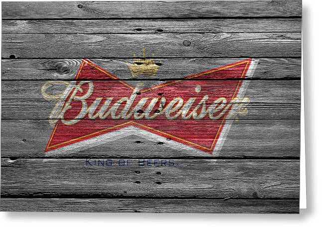 Beverage Greeting Cards - Budweiser Greeting Card by Joe Hamilton