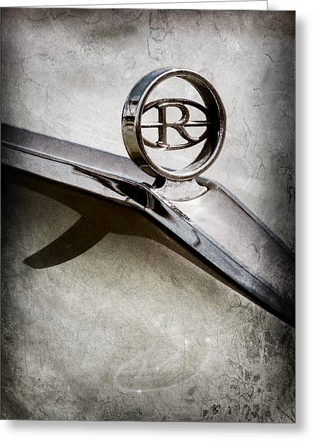Buick Greeting Cards - Buick Riviera Hood Ornament  Greeting Card by Jill Reger