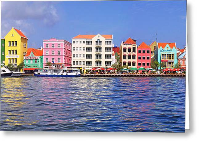 Building Exterior Photographs Greeting Cards - Buildings At The Waterfront Greeting Card by Panoramic Images