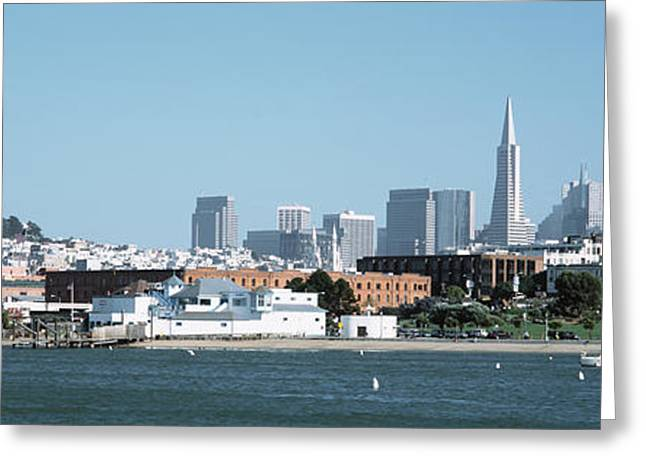 Downtown San Francisco Greeting Cards - Buildings At The Waterfront, San Greeting Card by Panoramic Images