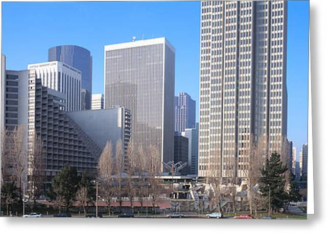 Commercial Building Greeting Cards - Buildings In A City, San Francisco Greeting Card by Panoramic Images