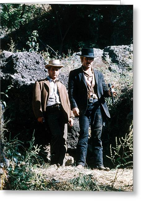 Butch Cassidy Greeting Cards - Butch Cassidy and the Sundance Kid  Greeting Card by Silver Screen