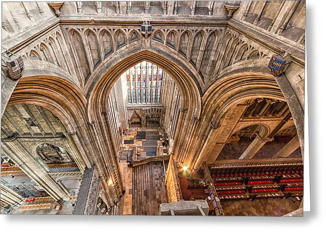 Religion Church Greeting Cards - Canterbury Cathedral Greeting Card by Ian Hufton