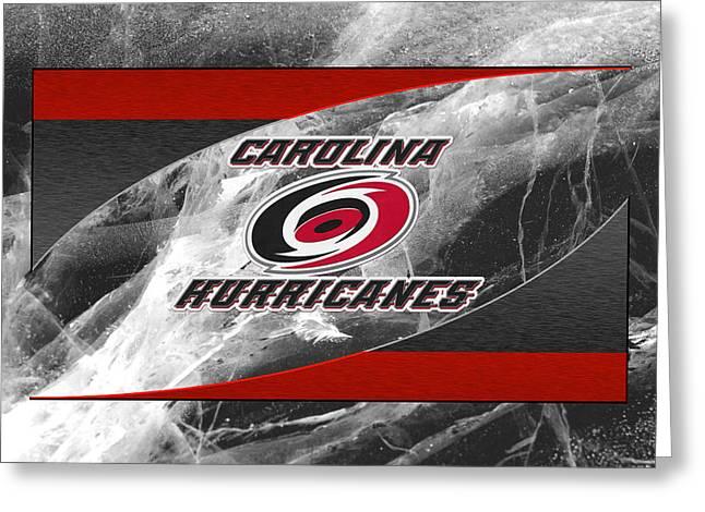Skates Greeting Cards - Carolina Hurricanes Greeting Card by Joe Hamilton