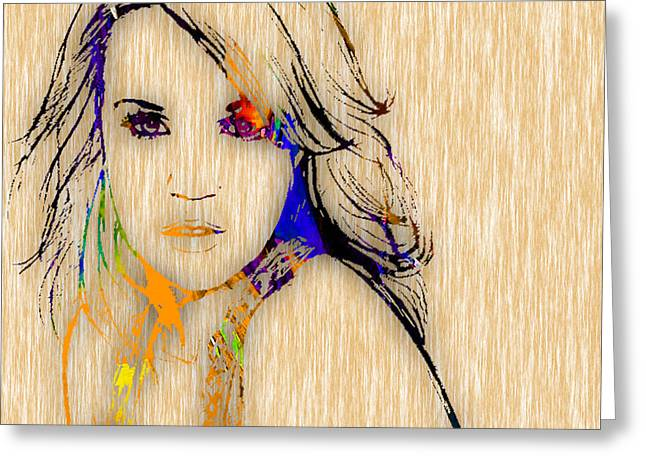 Country Music Greeting Cards - Carrie Underwood Greeting Card by Marvin Blaine