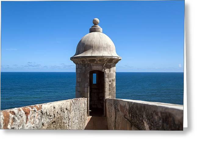 Puerto Rico Greeting Cards - Castillo San Felipe del Morro. Greeting Card by Fernando Barozza