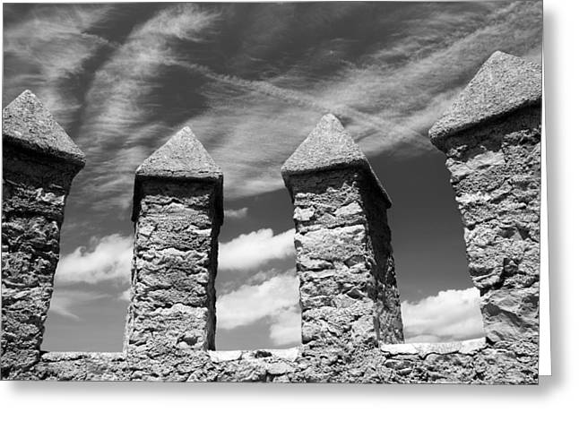 Hostility Greeting Cards - Castle Ramparts  Greeting Card by Chay Bewley