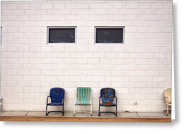 Featured Art Greeting Cards - ACE CHAIRS Palm Springs Greeting Card by William Dey