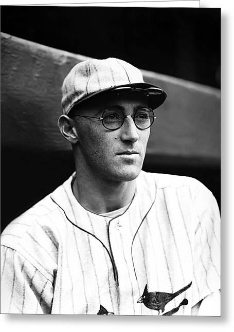 Hall Of Fame Baseball Players Greeting Cards - Charles J. Chick Hafey Greeting Card by Retro Images Archive