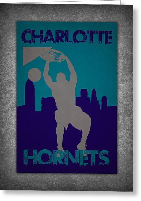 Charlotte Greeting Cards - Charlotte Hornets Greeting Card by Joe Hamilton
