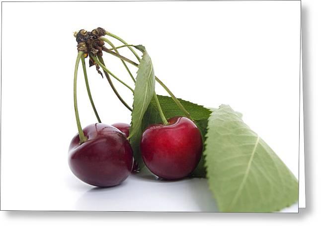Food And Drink Greeting Cards - Cherries Greeting Card by Bernard Jaubert