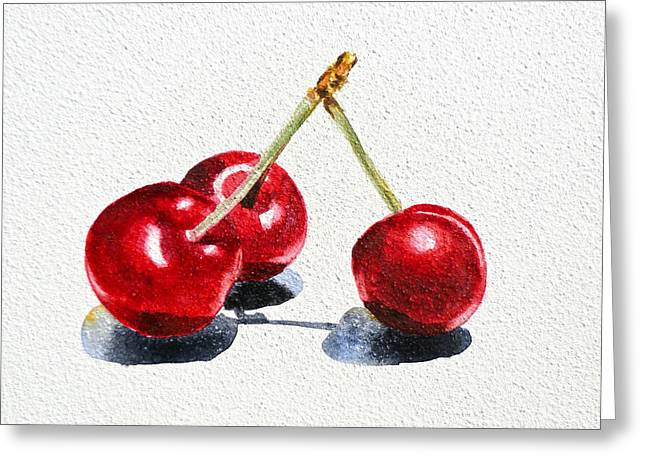 Purchase Greeting Cards - Cherries Greeting Card by Irina Sztukowski