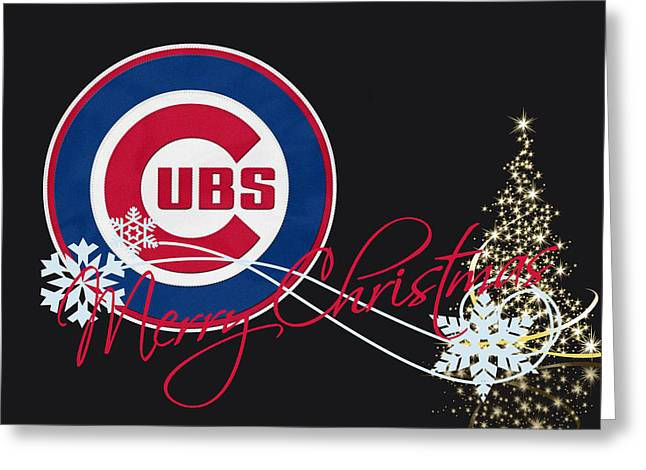 Chicago Baseball Greeting Cards - Chicago Cubs Greeting Card by Joe Hamilton