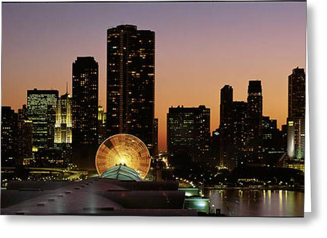 Lake Shore Drive Greeting Cards - Chicago, Illinois, Usa Greeting Card by Panoramic Images