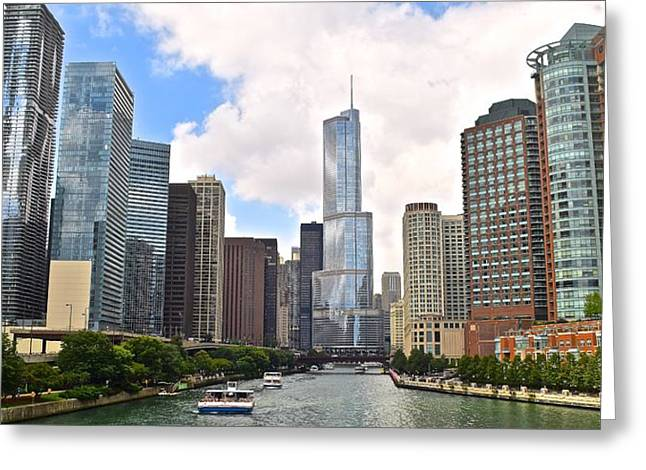 High Park Fire Greeting Cards - Chicago Panorama Greeting Card by Frozen in Time Fine Art Photography