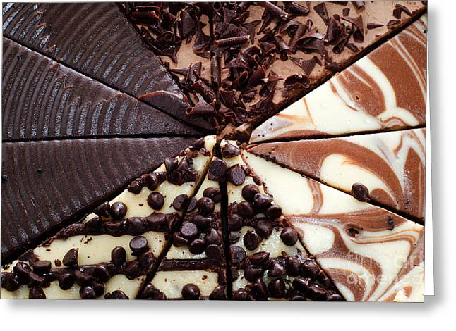 Cheese Cake Greeting Cards - 4 Chocolate Cheesecakes - Dessert - Baker - Kitchen Greeting Card by Andee Design