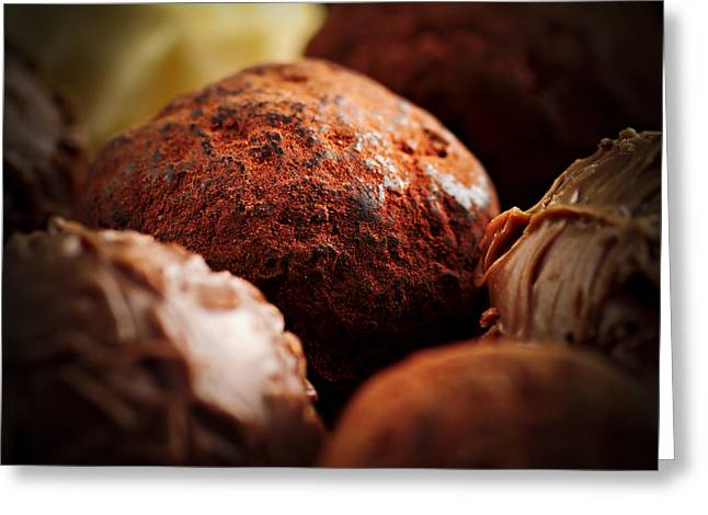 Various Greeting Cards - Chocolate truffles Greeting Card by Elena Elisseeva