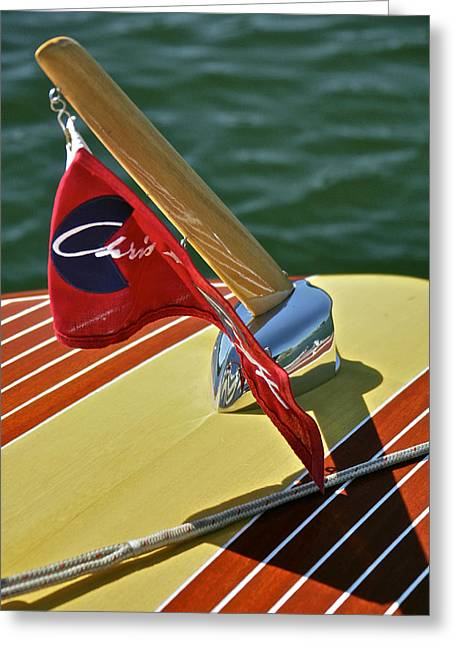 Mahogany Red Greeting Cards - Chris Craft Classic Greeting Card by Steven Lapkin