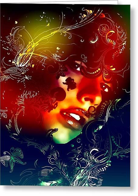 Christina Aguilera Greeting Cards - Christina Aguilera Greeting Card by Bogdan Floridana Oana