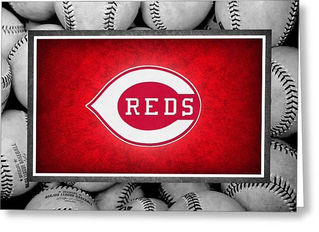 Outfield Greeting Cards - Cincinnati Reds Greeting Card by Joe Hamilton
