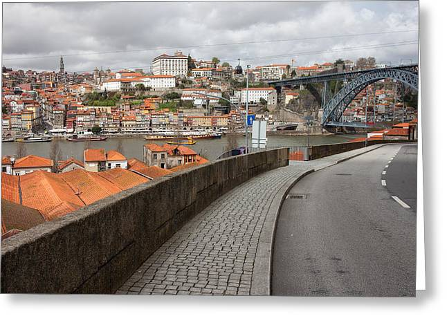 City Of Porto In Portugal Greeting Card by Artur Bogacki