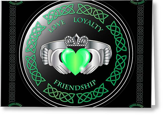 Rings Greeting Cards - Claddagh Ring Greeting Card by Ireland Calling