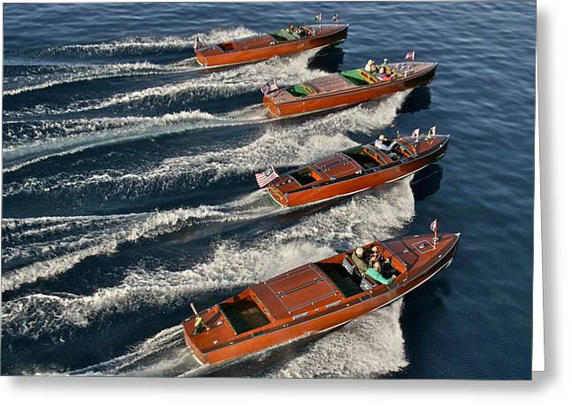 Equality Greeting Cards - Classic Wooden Runabouts Greeting Card by Steven Lapkin
