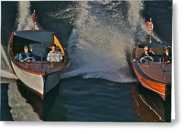 Mahogany Greeting Cards - Classic Chris-Craft Greeting Card by Steven Lapkin