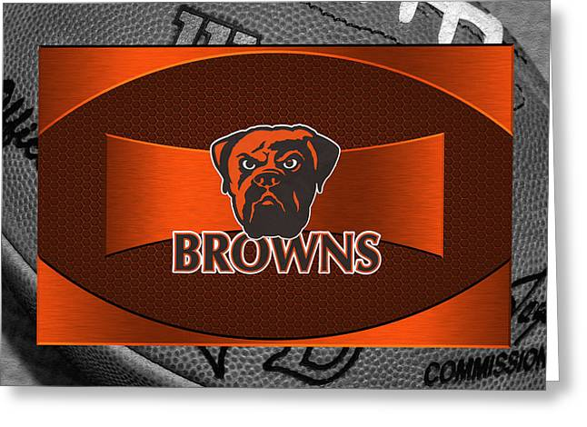 Offense Greeting Cards - Cleveland Browns Greeting Card by Joe Hamilton