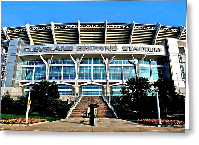 Mccoy Photographs Greeting Cards - Cleveland Browns Stadium Greeting Card by Frozen in Time Fine Art Photography