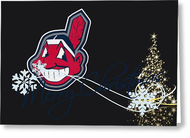 Cleveland Indians Greeting Cards - Cleveland Indians Greeting Card by Joe Hamilton