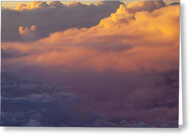 Colorful Clouds Greeting Card by Brian Jannsen