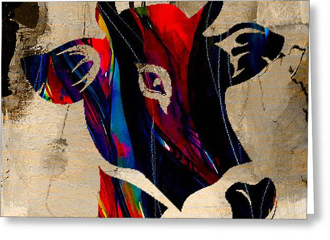 Cow Greeting Cards - Cow Greeting Card by Marvin Blaine