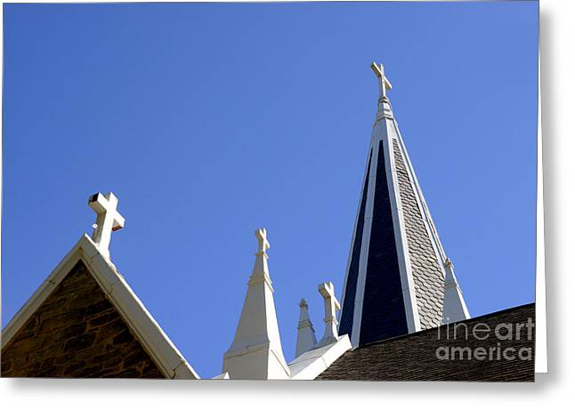 Harpers Ferry Photographs Greeting Cards - 4 Crosses Greeting Card by Paul W Faust -  Impressions of Light