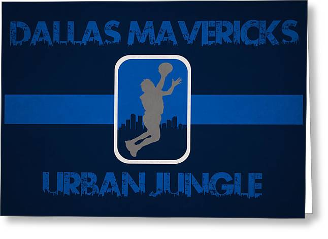 Dunk Greeting Cards - Dallas Mavericks Greeting Card by Joe Hamilton