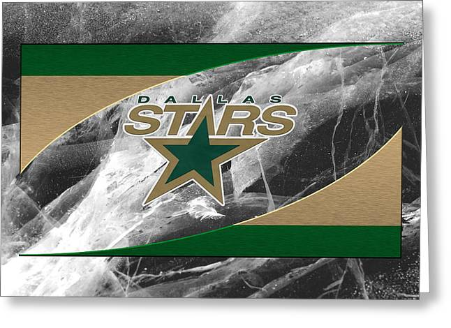 Skates Greeting Cards - Dallas Stars Greeting Card by Joe Hamilton