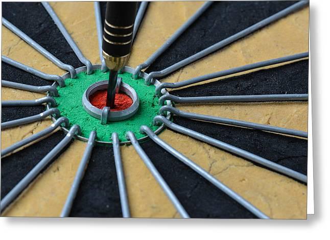 Dartboard Greeting Cards - Dartboard Close Up Greeting Card by Brandon Bourdages