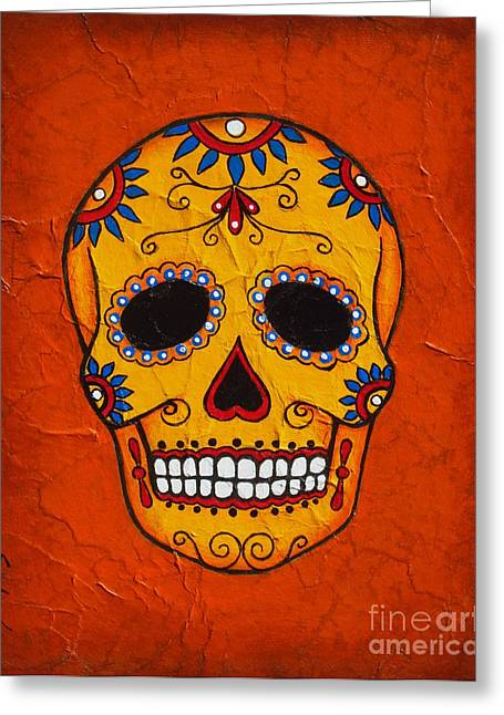 Dead Mixed Media Greeting Cards - Day of the Dead Greeting Card by Joseph Sonday